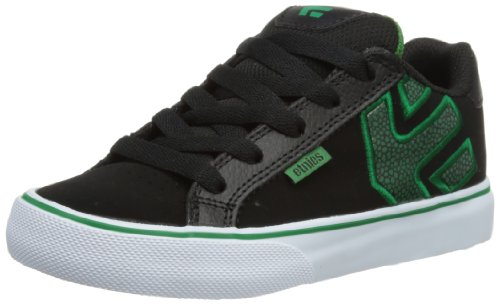 Etnies Unisex-Child Kids Fader Vulc Trainers 4301000086 Black/Green 1 UK, 34 EU, 2 US