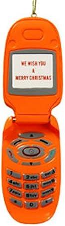 Orange Mobile Phone Christmas Ornament
