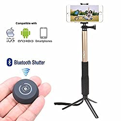 AirPlus Premium Series Selfie Stick With Go Pro Camera Attachment [GOLD]