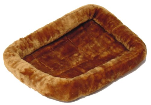 """Midwest Quiet Time Pet Bed, Cinnamon, 42"""" X 26"""" front-52891"""