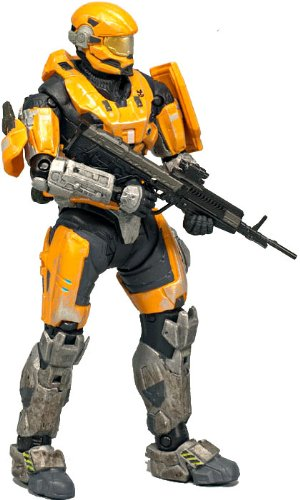 Halo Reach McFarlane Toys Series 1 Exclusive Action Figure GOLD / STEEL Spartan Hazop Custom (Male) (Halo Reach Spartan Action Figures compare prices)