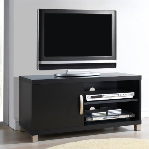 "Techni Mobili 40"" Tv Stand With 1 Door Black"