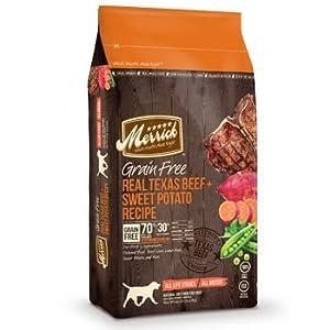 Merrick Grain Free Real Texas Beef/Sweet Potato Pet Food, 25-Pound