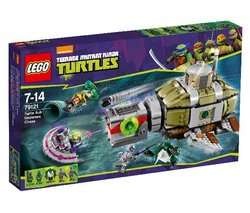 "LEGO Teenage Mutant Ninja Turtles - Turtle Sub Undersea Chase Building Set - 79121 (Lego Teenage Mutant Ninja Turtles 5702015126977) ""The Kraang have got the power cell and are getting away in their mini Kraang sub. Rev up the engine ..."