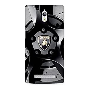 Premium Lm Wheel Back Case Cover for Oppo Find 7