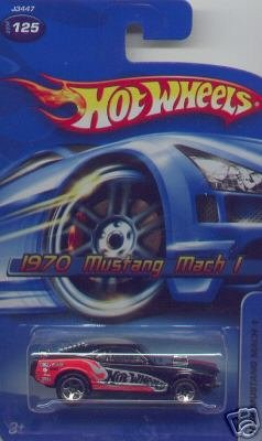 Hot Wheels 1970 Mustang Mach 1 Black #125 - 1:64 Scale Collectible Die Cast Car - 1