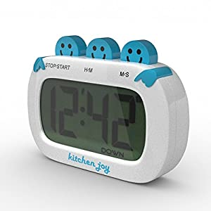 Kitchen Joy Digital Kitchen Timer with Clock and Loud Alarm