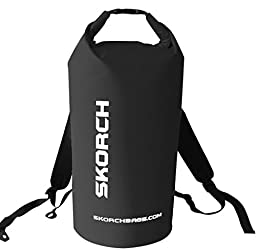 SKORCH Waterproof Backpack Dry Bag With Comfortable Padded Shoulder Straps. Because Your Next Adventure is Just Around the Corner. Beach, Kayak, Paddle Board, Camping, Sailing and Skiing.