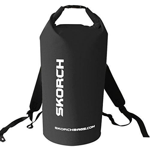 Zaino impermeabile, 40 l, colore: nero, taglia XL (12-15 Kg), protegge i dispositivi da acqua e sporco, mentre è simpatico spiaggia, Kayak, Paddle Board, campeggio, navigazione e Skiing. leggera, da viaggio, in vacanza