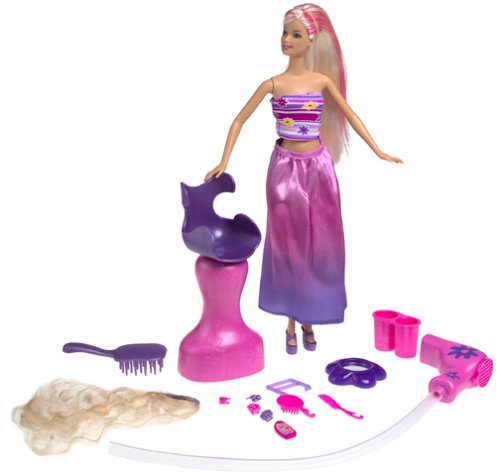 Barbie Glamour Surprise Mode Salon mit Fön Haarteil Sitz / hocker günstig
