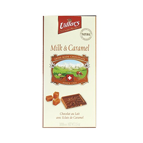 Chocolat au lait Suisse aux eclats de caramel Degustation VILLARS, 100g