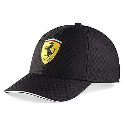 Ferrari Black Checkered Shield Hat