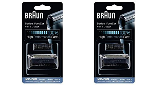 BRAUN 10B/20B 1000/2000 Series FreeControl Series 1 Shaver Foil and Cutter Head Replacement Pack, 2 Count (Braun Series 1000 Foil And Cutter compare prices)