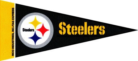 NFL Mini Pittsburgh Steelers Pennant, (2-Pack) by TeamFanatics