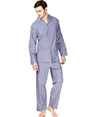 Pure Cotton Textured Striped Pyjamas