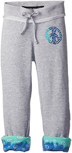 Freestyle Revolution Big Girls' Joggers With Peace Sign, Blue, Large front-511033