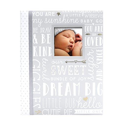 Lil' Peach Dream Big Wordplay Babybook, Grey