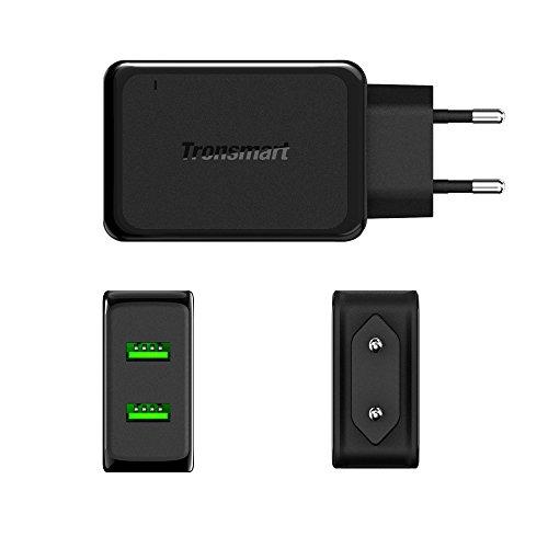 Tronsmart-48A36W-Dual-USB-Cargador-de-Pared-con-Tecnologa-Quick-Charge-20-Cargaodor-de-Viaje-36W-para-Samsung-galaxy-s6Xperia-Z5-iPad-iPhoneDos-182m-20awg-USB-cables-incluidos