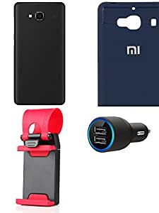 NIROSHA Cover Case Car Charger Mobile Holder for Xiaomi Redmi 2s - Combo
