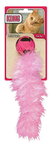 KONG Cat WILD TAILS Rattle Feather Chase Toy For Cats and Kittens (CB4)