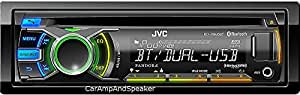 JVC KDR840BT AM/FM/CD/MP3/Bluetooth(R) Wireless Technology Dual USB/CD Receiver with AUX and 5-Zone Variable Color TechnologyBluetooth Receiver