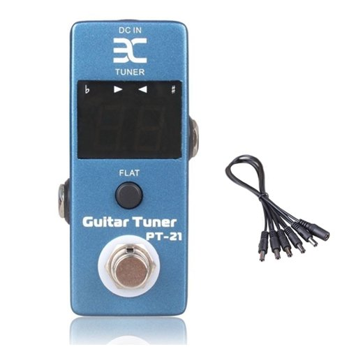 Global Sale Eno Micro Pt-21 Guitar Tuner Pedal Tuner Effect Compact For Tc Electronics+5 Way Daisy Chain Cable