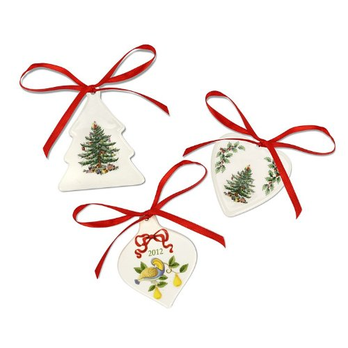 Spode Christmas Tree S/3 Ornaments