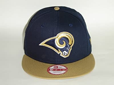 New Era NFL Los Angeles Rams Navy 2 Tone Baycik Snapback Cap