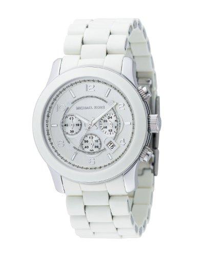 Michael Kors Quartz, White Dial with White Bracelet Band - Men's Watch MK8108