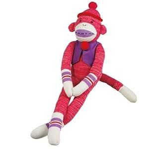 MVP Brands Pippy Sock Monkey Collectible, Pink, Medium