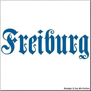 cartattoo4you AK-01584 | FREIBURG - Fraktur / Altdeutsche Schrift | Autoaufkleber Aufkleber FARBE hellblau , in 23 weiteren Farben erhältlich , glänzend 17 x 5 cm in PREMIUM - Qualität Waschstrassenfest VERSANDKOSTENFREI
