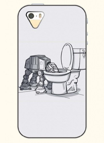 Oofit Phone Case Design With Robot Got Drunk For Apple Iphone 5 5S 5G