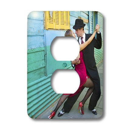 Lsp_85199_6 Danita Delimont - Argentina - Argentina, Buenos Aires, La Boca. Tango Dancing - Sa01 Bja0004 - Jaynes Gallery - Light Switch Covers - 2 Plug Outlet Cover