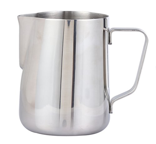 Milk Frother Pitcher - Stainless Steel Coffee Milk Frothing Cup 12-Ounce, 350ml by Juvale (12 Cups Verisimo Starbuck Coffee compare prices)