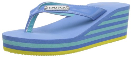 Nautica Bailer 2 Wedge Sandal (Little Kid/Big Kid),Azure Blue,1 M Us Little Kid