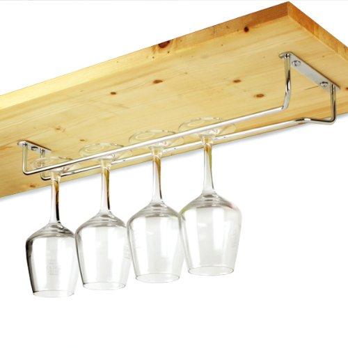 chrome glass rack 16inch over bar wine glass holder. Black Bedroom Furniture Sets. Home Design Ideas