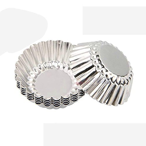 Gabkey 24 Pcs Aluminum Cups Baking Bake Muffin Cupcake Tin Mold Round Egg Tart Tins Mold (Baking Molder compare prices)