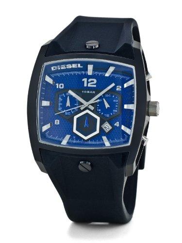 Diesel Men's Chronograph Watch DZ4188 With Black Silicone Strap