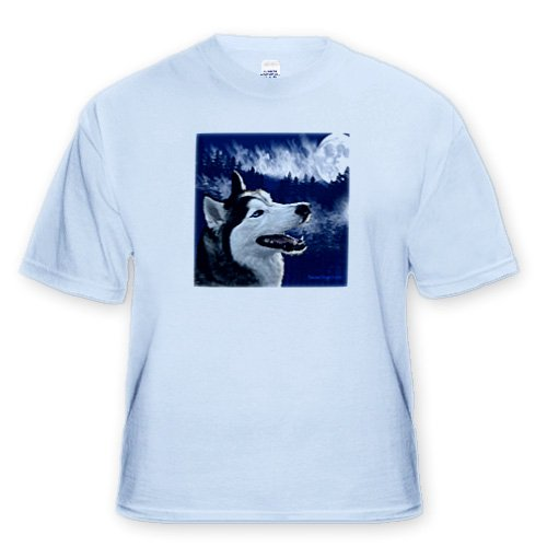 Blue Eyed Alaskan Husky - Adult Light-Blue-T-Shirt 3XL