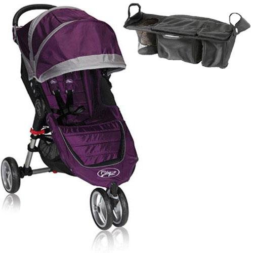 Baby Jogger Bj11228 City Mini Single With Parent Console - Purple Gray front-346623