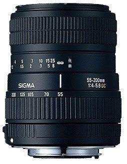 Sigma 55-200Mm F/4-5.6 Dc Telephoto Zoom Lens For Nikon Digital Slr Cameras