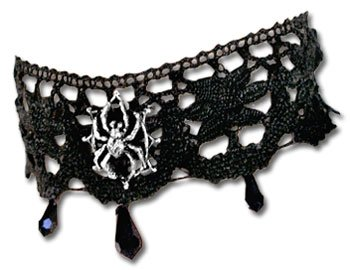 Arachnathea Lace Choker style Necklace with Spider