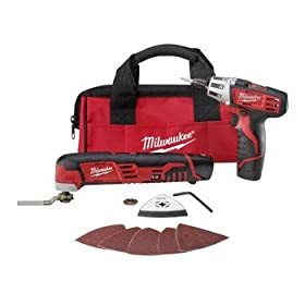 Milwaukee 2496-22 M12 Multi-Tool and Screwdriver Combo Kit