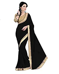 Atri Enterprice jay ho black saree