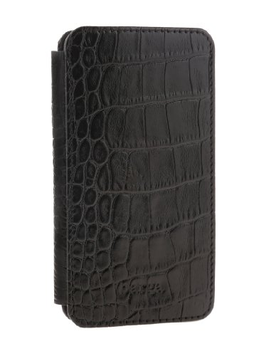 Special Sale Barga Cases Genuine Leather Wallet Case for Iphone 5 / 5S , Croco Black