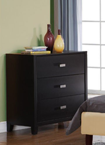 Cheap Kids Dresser with Silver Handle in Espresso Finish (VF_F4828)
