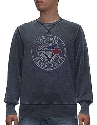 Mens MLB Athletic Pullover Vintage Look Sweatshirt: TORONTO BLUE JAYS