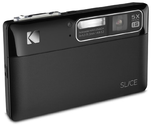 Kodak SLICE Touchscreen Camera - Black (14MP, 5x Optical Zoom) 3.5 inch LCD