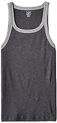 Jockey Mens Cotton Vest (8901326099209_US27-0105-CHAML Charcoal meland Grey melFashion Vest XL)