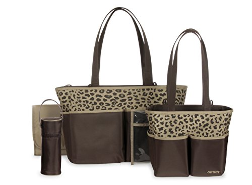 Carter's Diaper Bag Set, Brown/Tan - 1